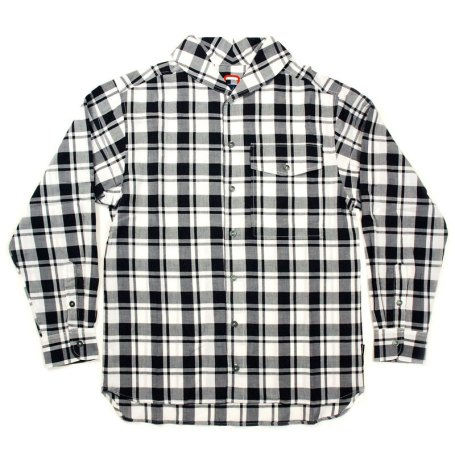 Wood Wood 'Kelly' Shirt: Black & White Check